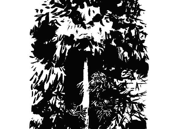 Monster Tree - screen print 56x76cm