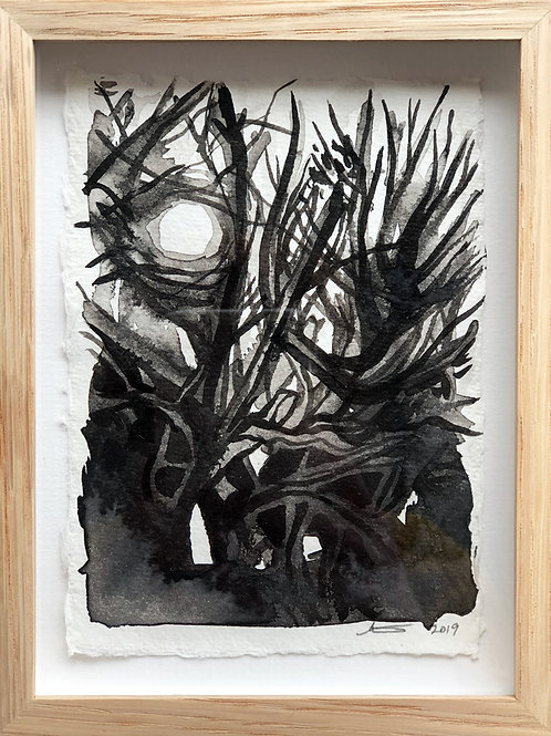 Thicket - Framed Ink Painting