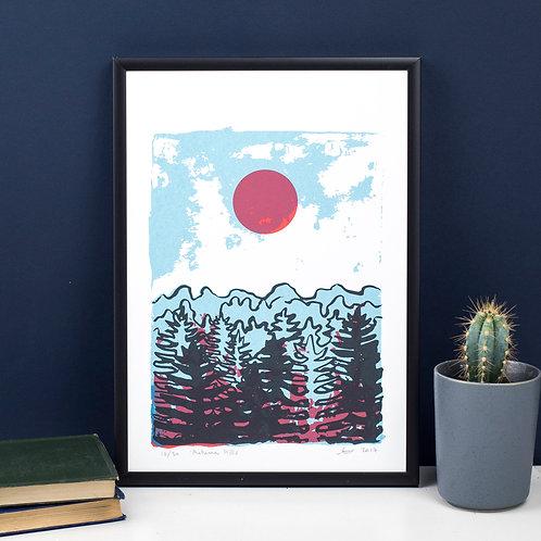 Autumn Hills - Screen Print