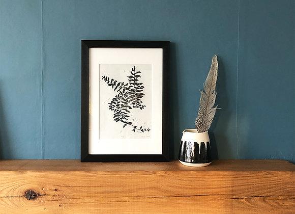 Fern - Linocut Print