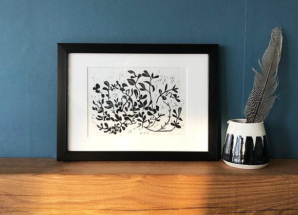 Honeysuckle - Linocut Print