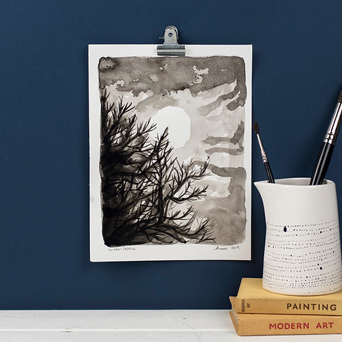Winter Solstice - Ink on Paper