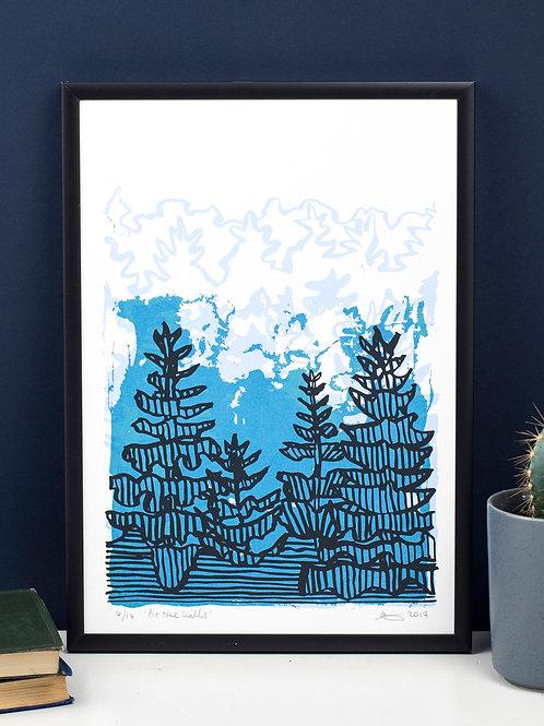 Fir Tree Hills - Screen Print