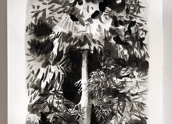 Monster Tree (ink painting)