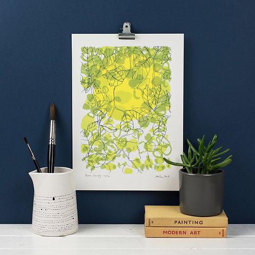 Beech Canopy - Screen Print