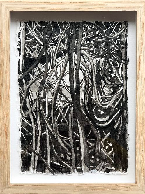 A Tangled Web - Framed Ink Painting