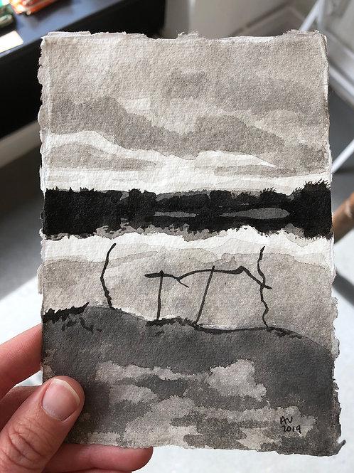Waterside - Ink on Paper