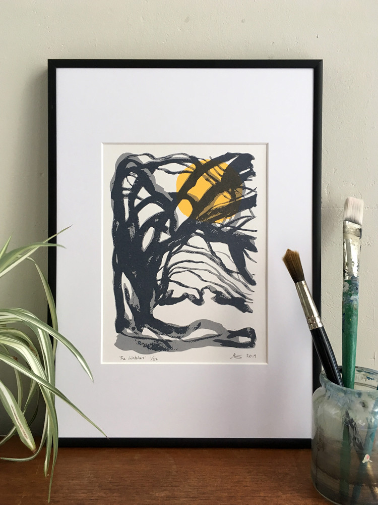 The Watchers Print by Anna Vartiainen