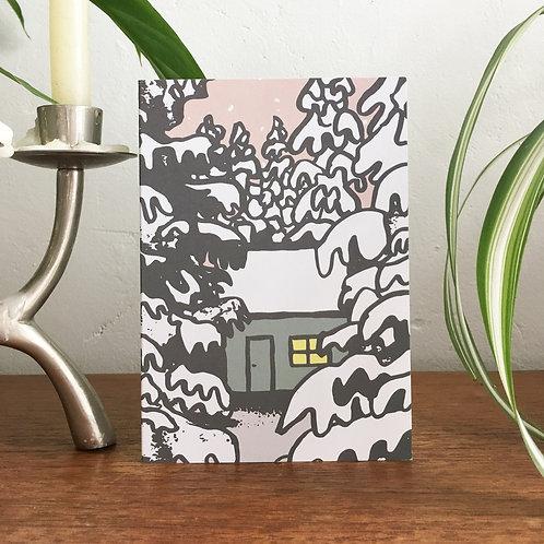 Snowy Cabin Christmas Cards