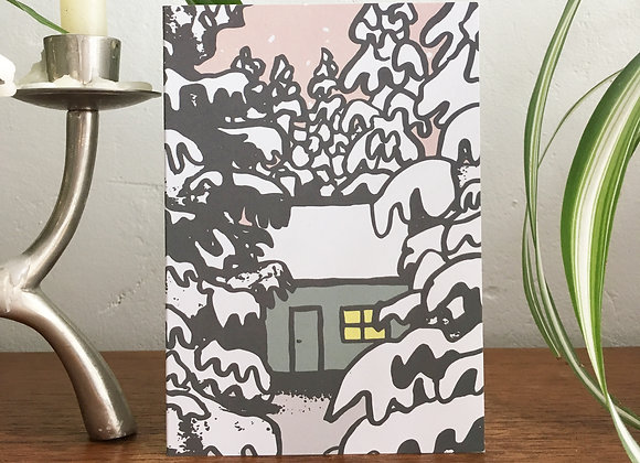 Snowy Cabin Christmas Cards