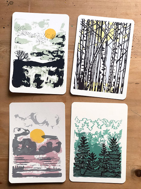Set of 8 Postcards - Forest Song