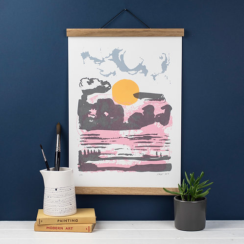 Winter Beach - Screen Print