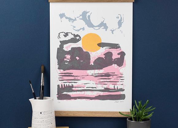 Winter Beach - Screen Print