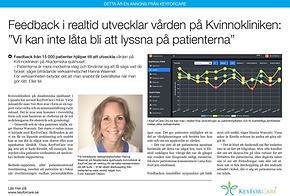 Biträdande verksamhetschefenHanna Waernér på Akademiska sjukhusets kvinnoklinik berättar hur de använder KeyForCare för att hålla verksamheten på rätt kurs.