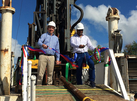 Geothermal Test Well Drilling Commences w Ribbon Cutting Ceremony