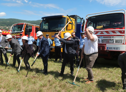 Le gros œuvre va pouvoir commencer sur le chantier de la future caserne des pompiers !