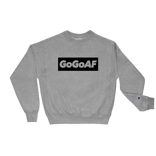 GOGOAF BLOCK CHAMPION SWEATSHIRT GREY - BLACK PRINT