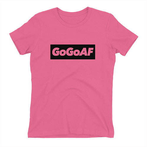 "WOMEN'S PREMIUM ""GOGOAF"" BLOCK TEE (3 COLORS)"