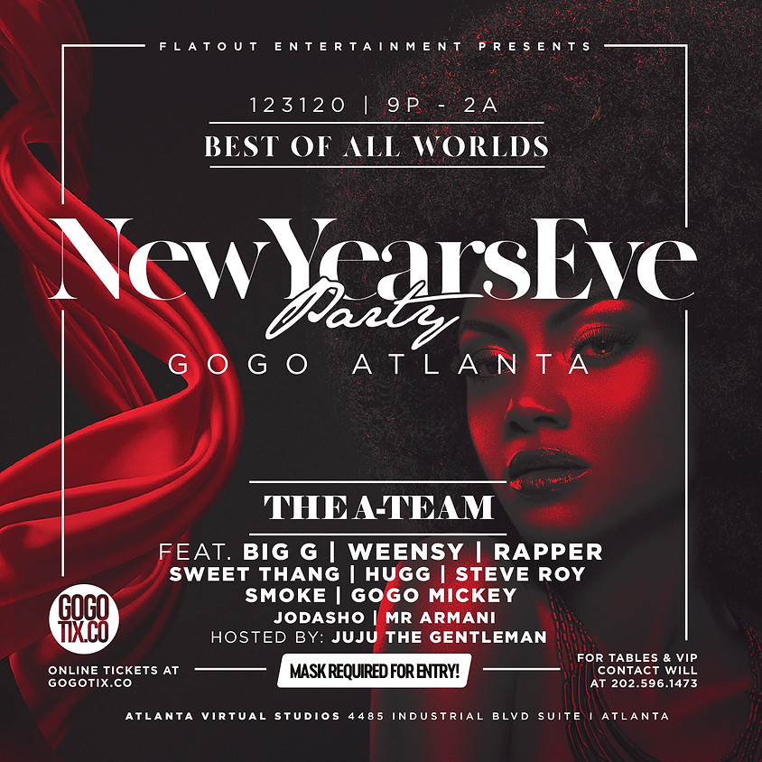 Best Of All Worlds - New Year's Eve Party | Go-Go Atlanta