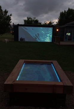 Night time installation view