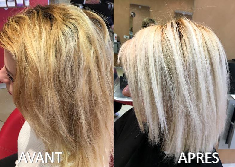 """Avant - Après """"Blond Polaire"""""""