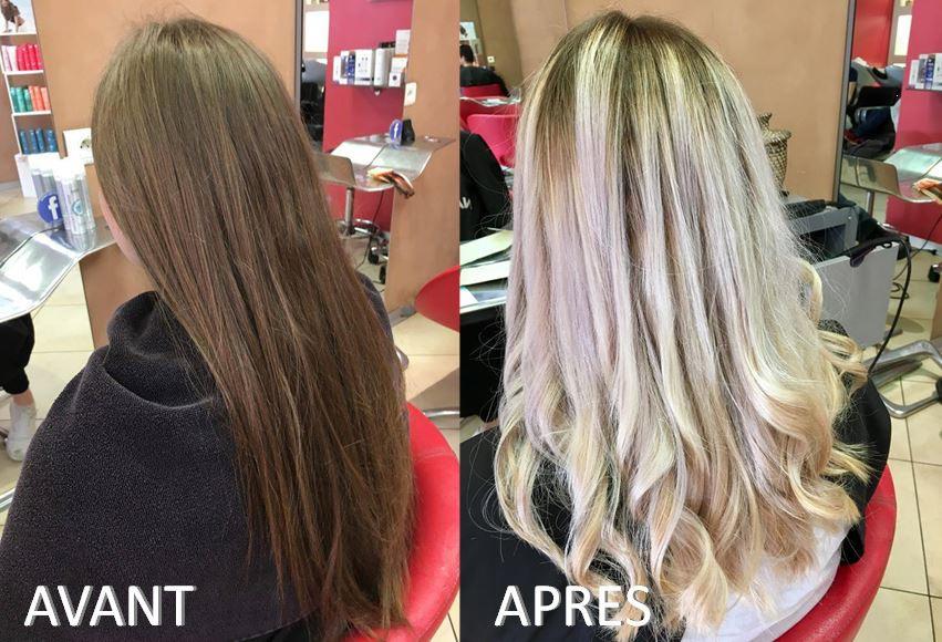Avant-Après Blond Lumineux