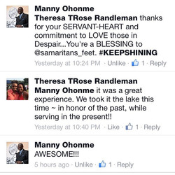 Special Words from Samaritans Feet