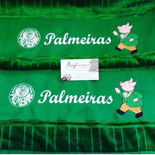 Toalha de banho e rosto Palmeiras e Mascote