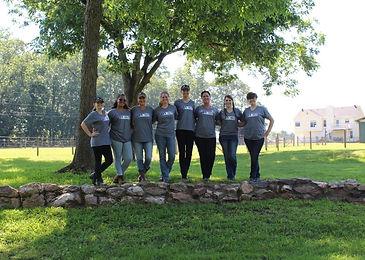 2018 YEC Tess' counselors standing on ro