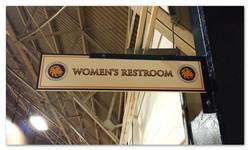 TAMUC Football Stadium Restroom Sign