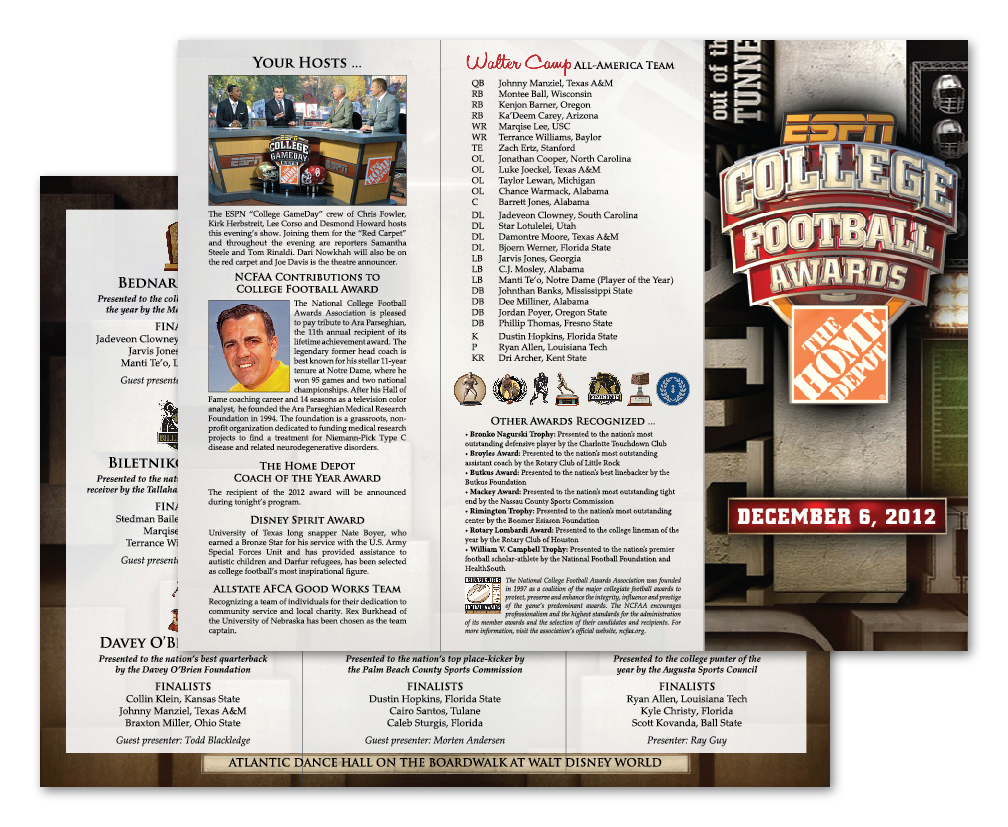 ESPN College Football Trifold