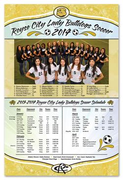 Royse City Girls Soccer Poster