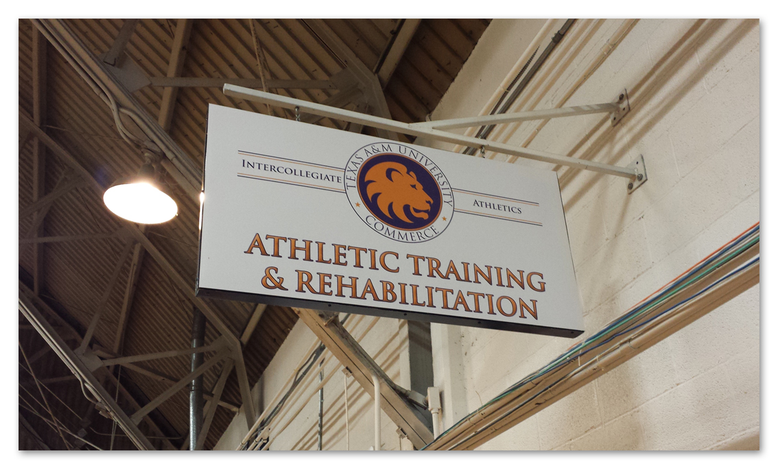 TAMUC Athletic Rehab Sign