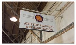 TAMUC Athletic Rehab Sign