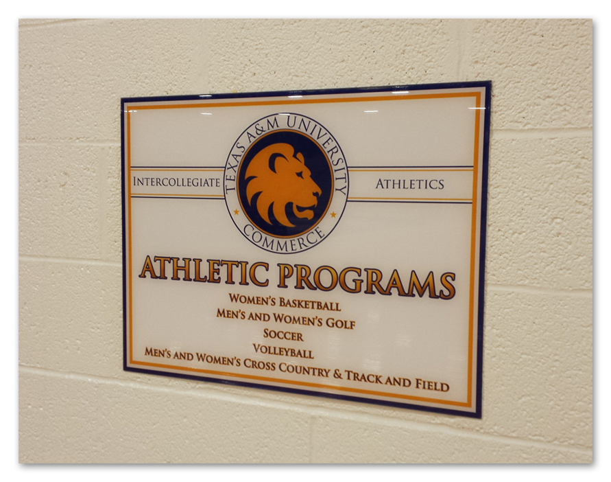 TAMUC Athletic Programs Sign