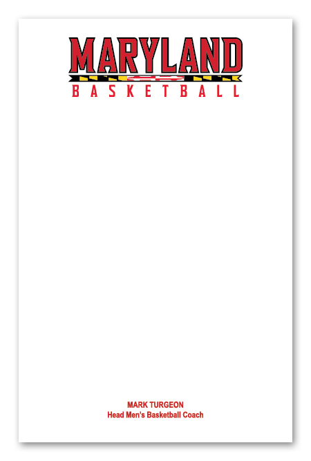 Maryland BB Notecard