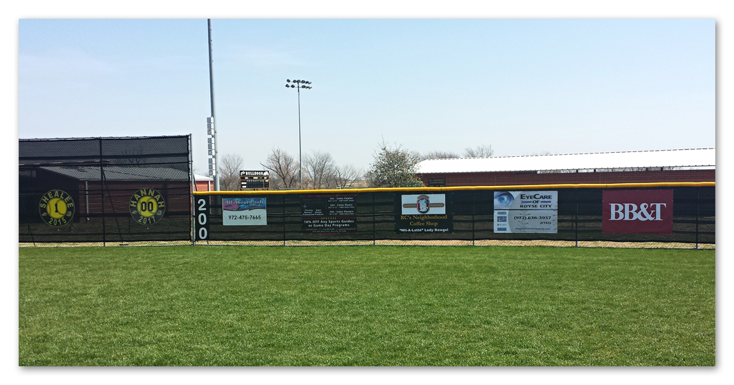 Softball Field Banners