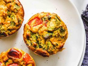 Muffin de legumes assado na Airfryer
