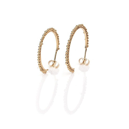 Bliss Midi Hoops - Gold