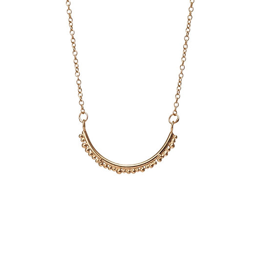 Bliss Semi Circle Necklace - Gold
