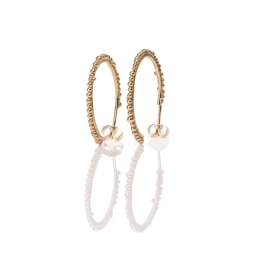 Bliss Statement Hoops - Gold