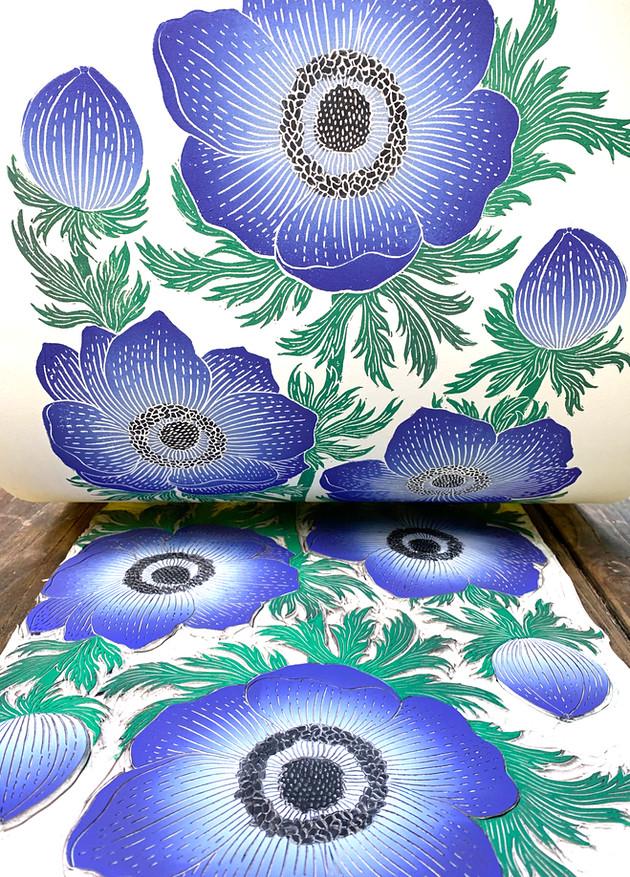 Anemone print reveal