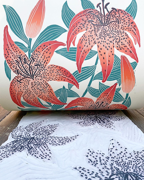 Tiger Lily layer two print reveal