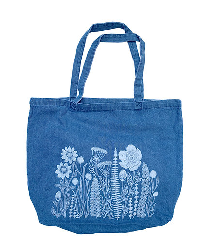 Washed Denim Tote