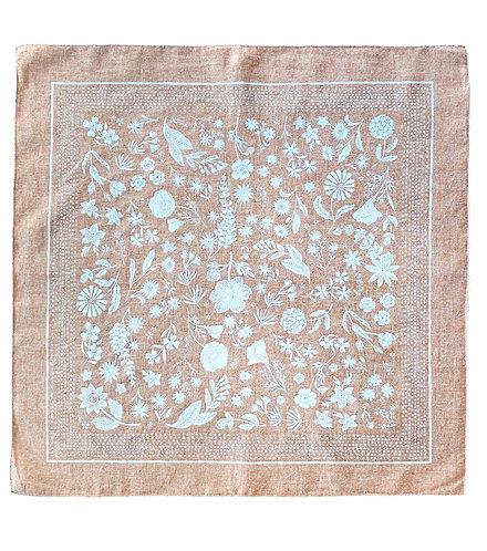 Organic Cotton + Hemp Bandana - Wildflower // Rust Chambray