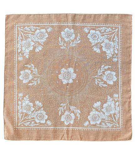 Organic Cotton + Hemp Bandana - Anemone // Rust Chambray