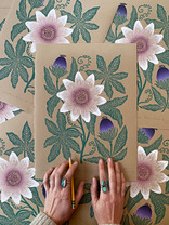 Passion Fruit prints on kraft paper