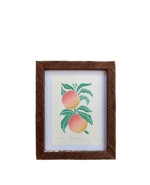 "Framed ""Love Peach"""