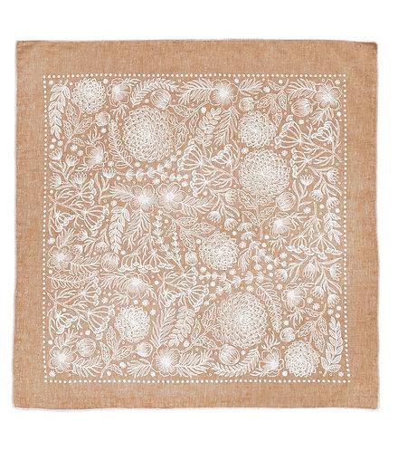Organic Cotton + Hemp Bandana - Garden // Rust Chambray