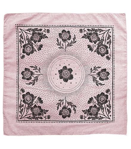 Organic Cotton + Hemp Bandana - Anemone // Rose Chambray - Black Ink